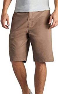 LEE Mens 6 Pocket Brown Crew Cargo Flat Front Casual Shorts
