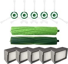 aspira y friega Maxpex 1x Filtro 2X Cepillo Lateral de Accesorios de Robot Aspirador Inteligente de Carga Barredora de Limpieza de Suelos,Compatible para irobot Roomba i7//i7