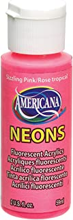 DecoArt DHS3-3 Americana Neon's Paint, 2-Ounce, Sizzling Pink