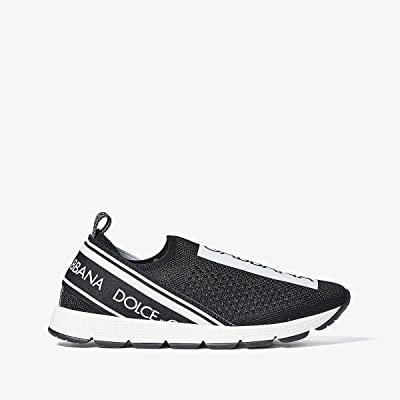 Dolce & Gabbana Kids Jersey Slip-On Sneaker (Little Kid/Big Kid) (Black/White) Kid