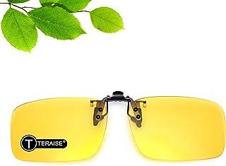 نظارات شمسية للجنسين المستقطبة TERAISE نظارات قلّابة عالية الدقة للقيادة الليلية.