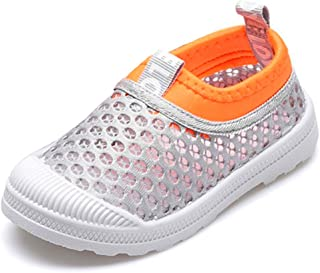 RVROVIC Kids Slip-on Breathable Mesh Sneakers Summer Beach Water Shoes Toddler/Little Kid
