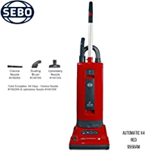 Sebo 9558AM Automatic X4 Upright Vacuum, Red with 8 Bags