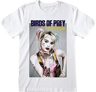 Camiseta original Harley Quinn Birds of Prey y la fantasmag/órica renacimiento de Harley Quinn Film 2020 oficial camiseta mujer gris Sabor srl