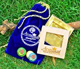 Arvedikas Natural Rose & Sandalwood Solid Perfumes For Women/Men/Long Lasting Scent/Pocket Size/Travel/Compact Colognes in Handcrafted Brass Jars/Unique Gift Pack of 2 Solid Perfumes