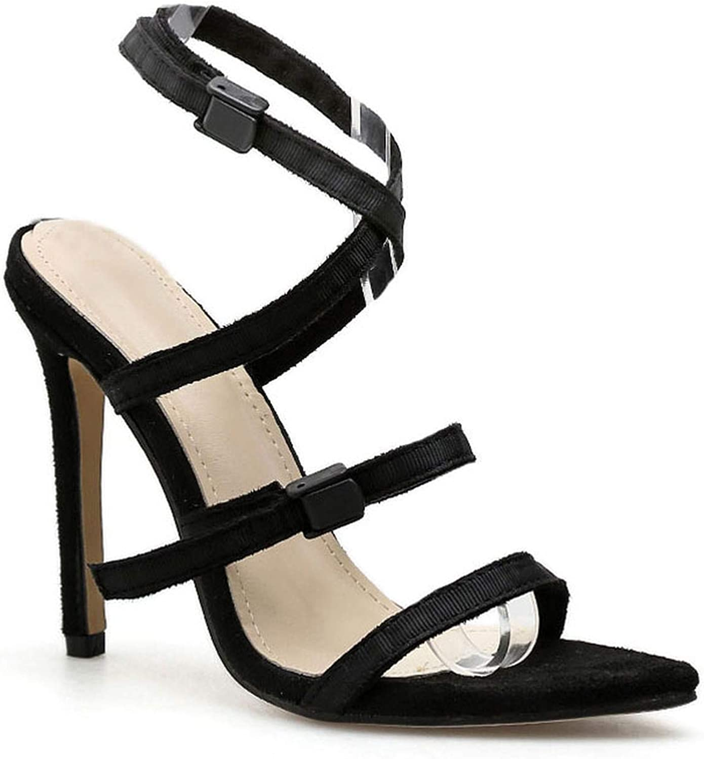 Women Sandals High Heels Point Toe Summer Plastic Buckle Sexy Party Ladies shoes Thin Heel Sandalie