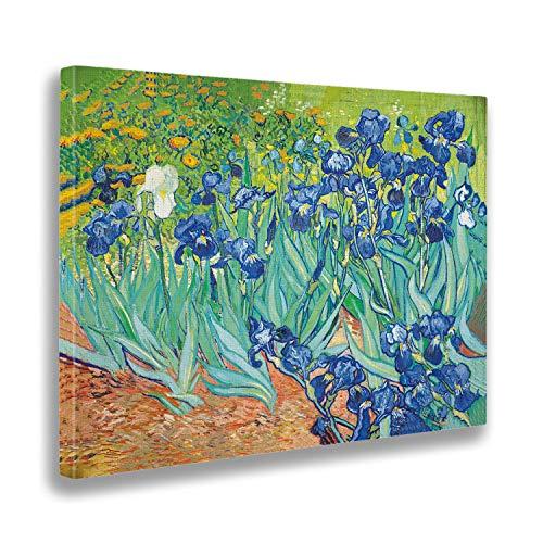 Giallobus - Cuadro - Vincent Van Gogh - Iris - Estampado en Lienzo - Listo para Colgar - Varios tamanos 100x70 cm