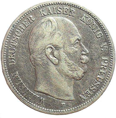 Deutsches Reich - Kaiserreich Silber Münze 5 Mark 1875 B Preu  K g Wilhelm I - J r Nr. 97
