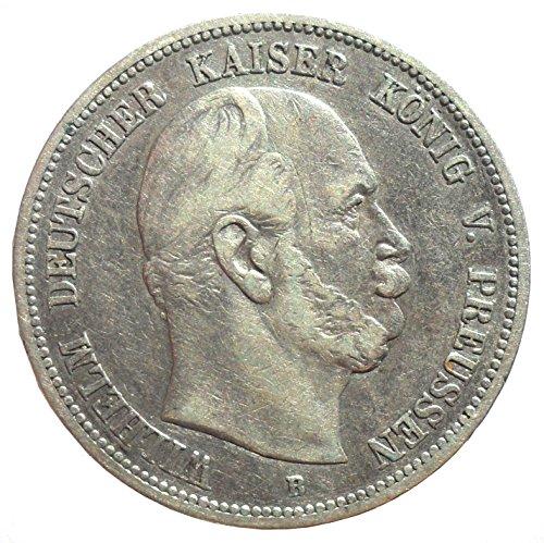 Deutsches Reich - Kaiserreich Silber Münze 5 Mark 1875 B Preußen König Wilhelm I - Jäger Nr. 97