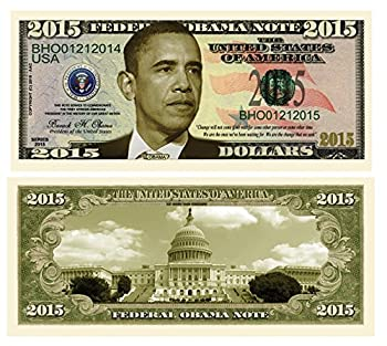 American Art Classics Set of 25 - Barack Obama 2015 Commemorative Dollar Bill