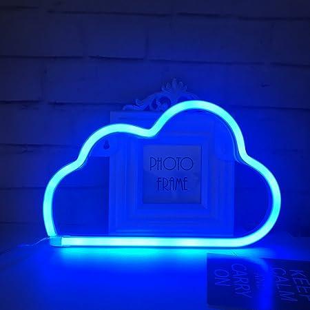 Niedliches blaues Wolken-Neonlicht für Kindergeschenk, LED-Wolken-Zeichen-Dekor-Licht, Festzelt-Zeichen/Wand-Dekoration für Weihnachten, Geburtstag, Wohnzimmer, Hochzeitsfest