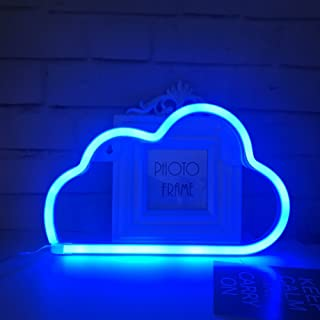Cute Blue Neon Light,LED Cloud Sign Shaped Decor Light,Marquee signs/Wall Decor for Christmas,Birthday party,Kids Room, Living Room, Wedding Party Decor(Blue)