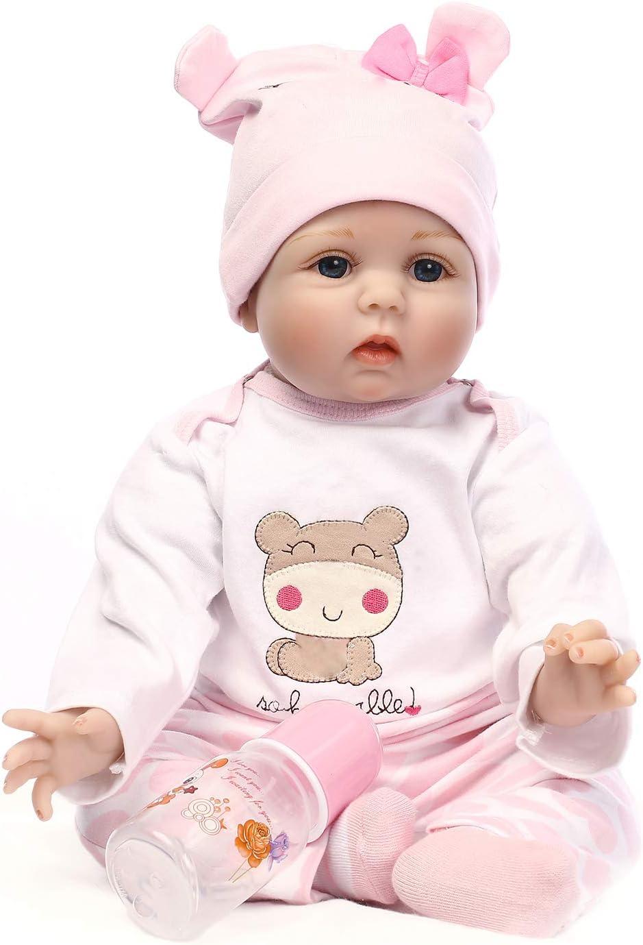 22inch Reborn Baby Doll Girl Look Real Newborn Soft Silicone Vinyl Baby Dolls