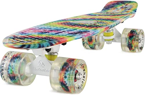 Meketec Complete 22 Inch Mini Cruiser Retro Skateboard