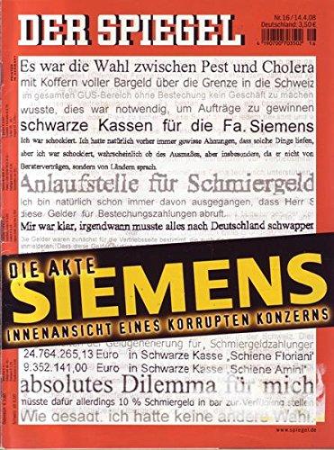 Der Spiegel Nr. 16/2008 14.04.2008 Die Akte Siemens