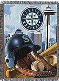 MLB Seattle Mariners Stadium Woven Tapestry Throw Blanket, 48' x 60'