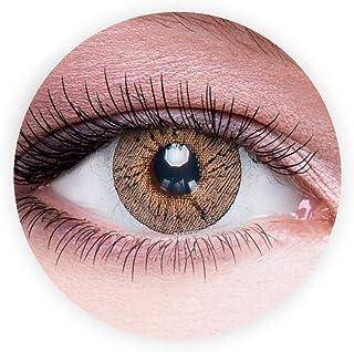 Dahab Sun Kiss Contact Lenses, Unisex Dahab Cosmetic Contact Lenses, 9 Months Disposable- Eye Enlargement Collection, Sun ...