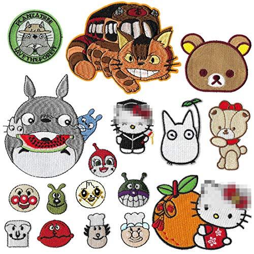 Meetlight Aufnäher zum Aufbügeln, Totoro-Aufnähen, für Jeans, Jacken, Kleidung, 17 Stück
