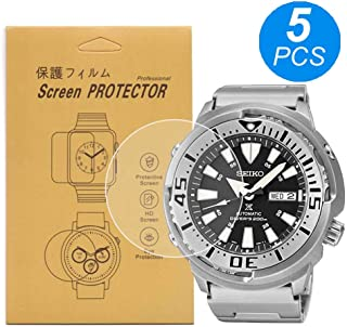 [5-Pcs] for Seiko SRP637/ SRP637K1 Watch Screen Protector, Full Coverage Screen Protector for Seiko SRP637 Watch HD Clear Anti-Bubble and Anti-Scratch SRP637K1 PROSPEX