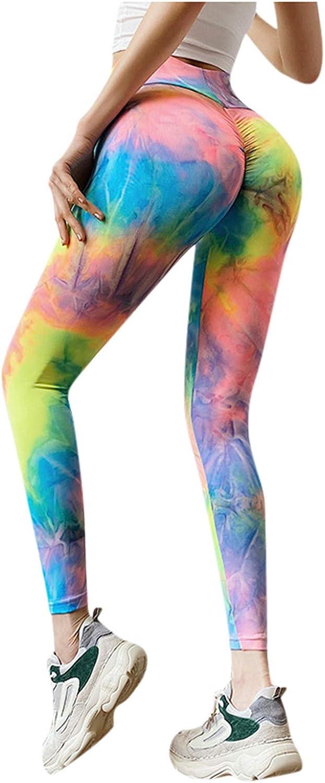 AODONG Yoga Pants for Women,Workout Leggings Butt Lifting Tummy Control Fitness Sports Straight Leg Yoga Athletic Pants