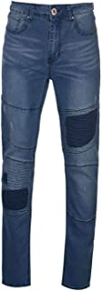 D555 Jeans Denim Newport Rips and Repairs Biker Mens Trouser Pants Denim