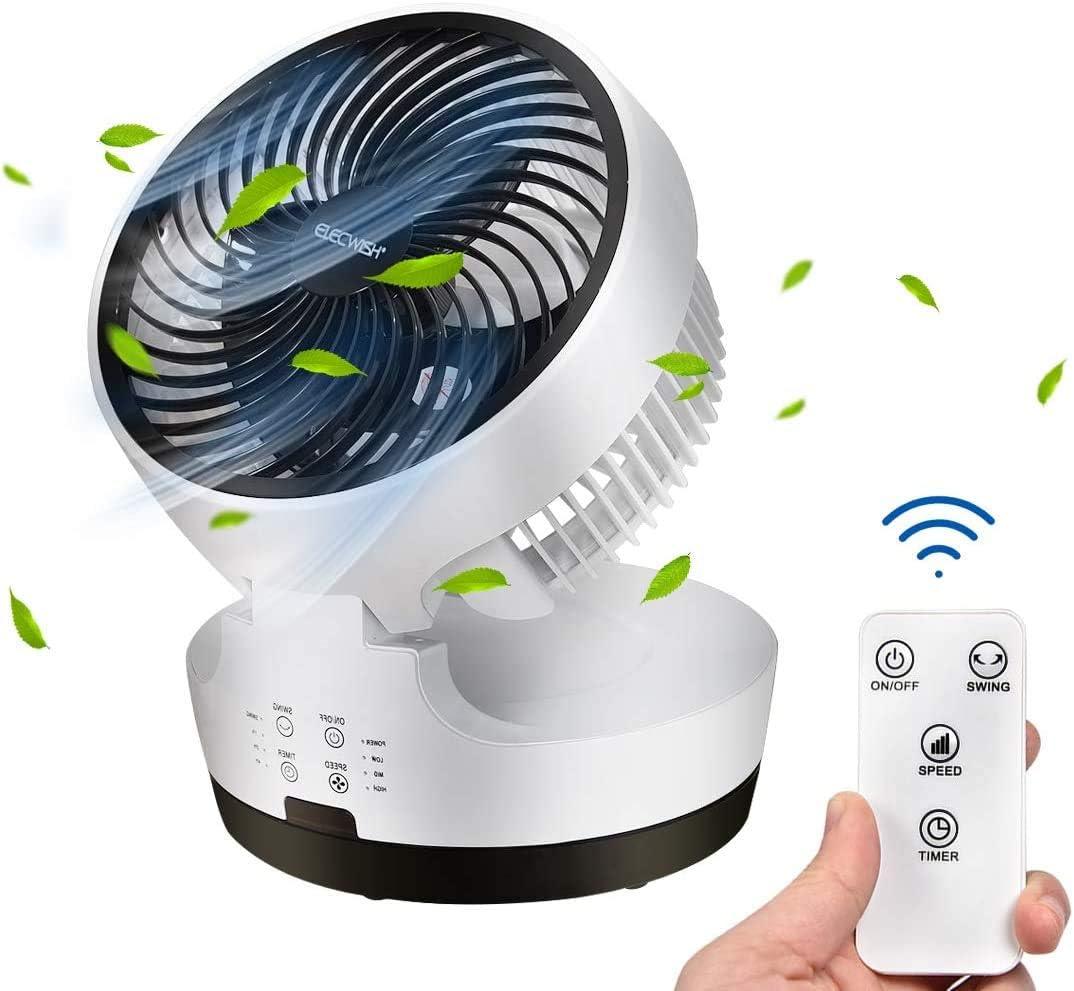 Foldable Air 流行のアイテム Circulator Fan with 絶品 Remote Floor Oscillating Re