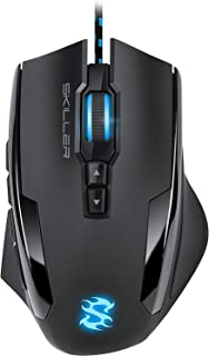Sharkoon SGM1 - Ratón Gaming Óptico, 10800 DPI, 12 Botones, Negro