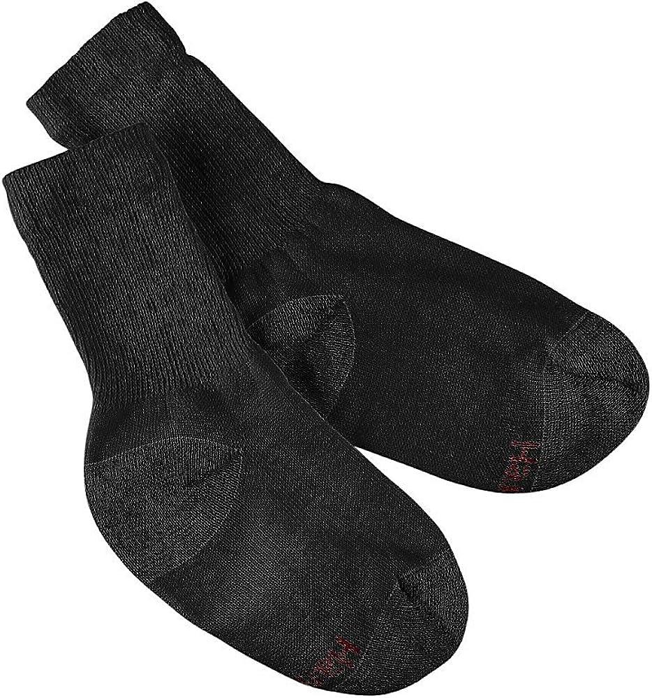 Hanes Boys Label Cushion Crew 10 pair, Black ,Medium