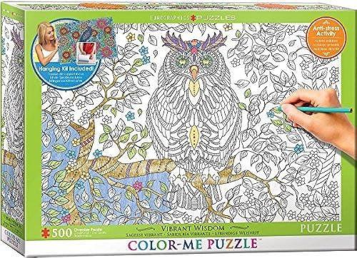 preferente EuroGraphics Vibrant Vibrant Vibrant Wisdom Color Me Puzzle (500 Piece) by EuroGraphics  entrega rápida