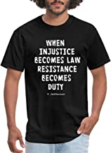 Spreadshirt Anti-Trump Resistance Becomes Duty Quote Men's T-Shirt