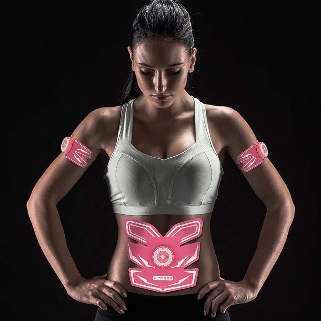 避ける遊具ポルティコAbsのトレーナーの適性の訓練ギヤ、リモート?コントロールのEMS筋肉刺激装置 - 人及び女性のためのUSBの再充電可能な最終的な腹部刺激装置筋肉トナー (Color : Pink)