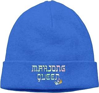 Mahjong Queen Mahjongg Mah-Jong Chinese Jewish Game Unisex Fashion Black Hats Knit Caps for Women Or Men