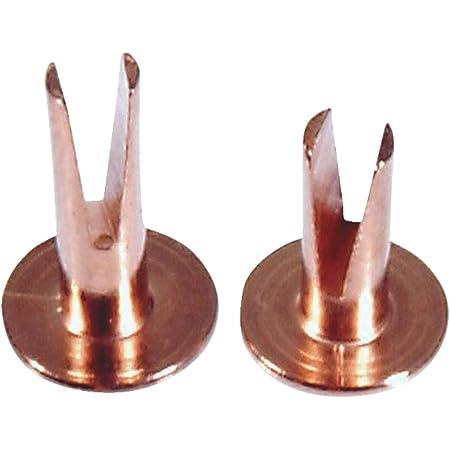 OVAL HEAD 1//8 DIAMETER X 1//2 LENGTH PACK OF 500 . SPLIT RIVET NICKEL PLATED. 7//32 HEAD DIAMETER STEEL
