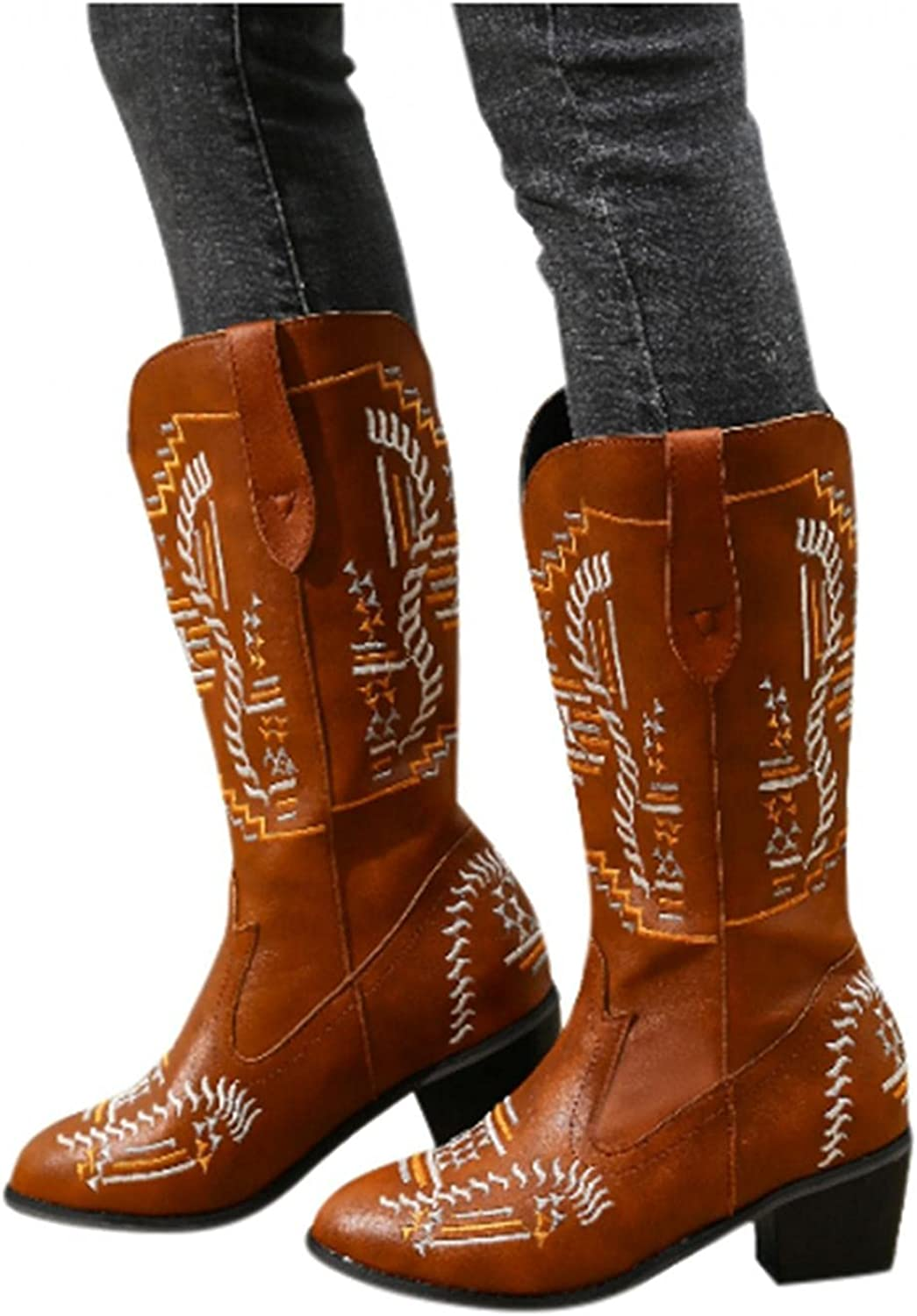 Masbird Cowboy Boots for Womens Embroid Limited time cheap sale Western Gaucho store Boot
