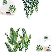 1 Juego de Pegatinas de Pared de Hoja Verde de Palmera, Decoración de Arte de Pared DIY, Pegatinas de Pared de árbol de la...