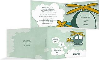 Einladungskarte Hubschrauber, 30 Karten, HellgrauGrün B07L1FCPQR  Billiger als der Preis