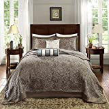 Madison Park Quilt Traditional Jacquard Luxe Design All Season, Coverlet Bedspread Lightwe...