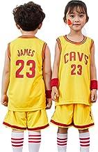 QQA Cleveland Cavaliers # 23 Lebron James NBA Kids Conjunto de Jersey de Baloncesto, Niño Fan Edition Formación Camisa de Entrenamiento