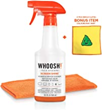 WHOOSH! Screen Cleaner Kit - Best for Smartphones, iPads, Eyeglasses, Kindle, Touchscreen & TVs - Includes 1 Unit of 500ml/16.9 fl oz W/Cloth +Bonus Emoji Cloth - Amazon Pack