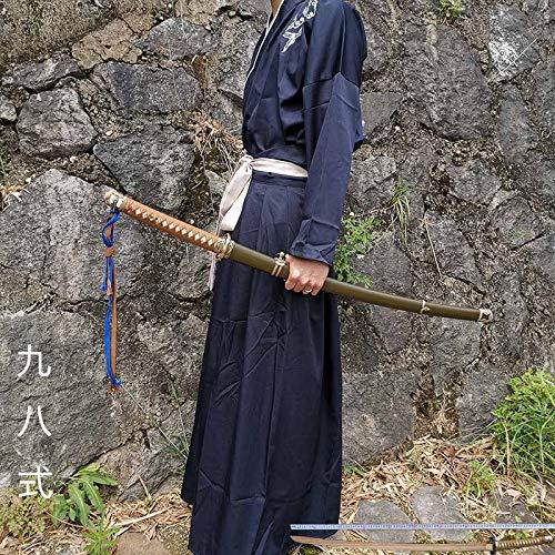 Authentisches Langschwert Toyo Samurai Klinge Japanische Holzscheide Iahe Messer Selbstverteidigung Kaltwaffe Stadthaus Schwert Nicht Kantig(Color:98式(主图款))