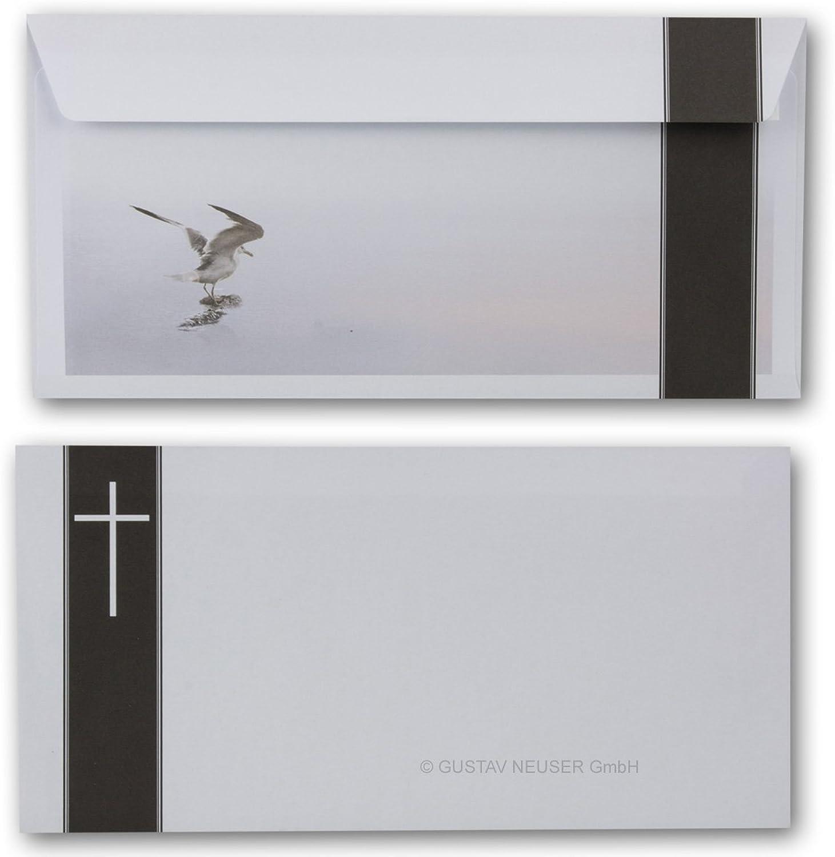 700 Stück Trauerumschlag Serie  Helmar - Möwe      Haftklebung    DIN Lang 22 x 11 cm - 90 g m²    Trauerhülle - Briefumschlag B07B9K2VTK | Kostengünstig  9ef986