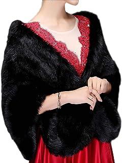 Chal - para mujer Chal de Pelo con broche Estola Mujer para Invierno Fiesta Novia Bodas Para dama de honor