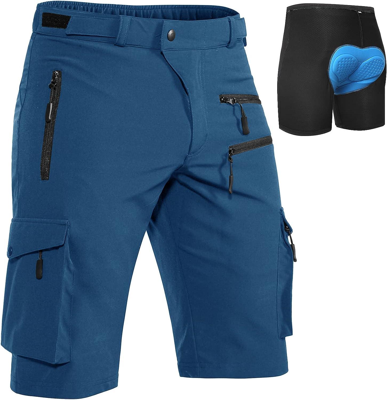 Hiauspor lowest Sacramento Mall price MTB-Shorts-Mens-Cycling-Shorts-Padded-Mountain-Bike-Sho