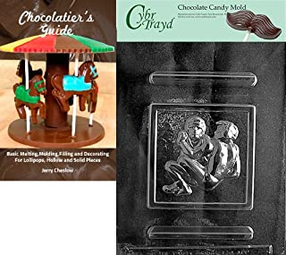 Cybrtrayd Wrestling Sports Chocolate Candy Mold with Chocolatier's Guide Instructions Book Manual