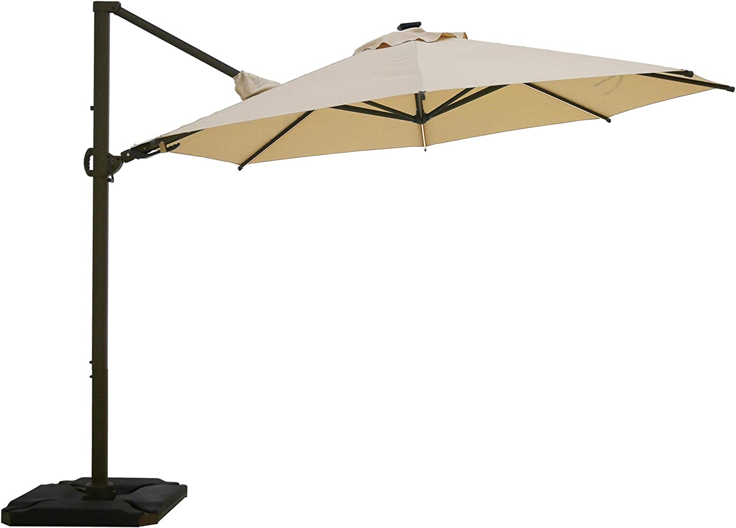 Abba Patio 11.5ft with Light Ranking TOP18 Offset Hanging 360°Rotating Luxury O