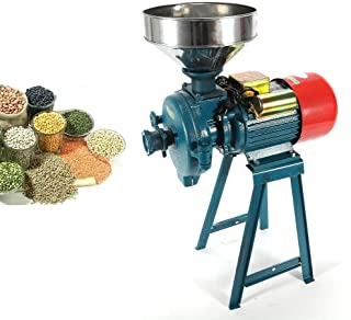 Mill Grinder, 110V 60Hz Electric Grain Dry Feed Flour Milling Machine Cereals Grinder Rice Corn Grain Coffee Wheat with Funnel (US Shipping)