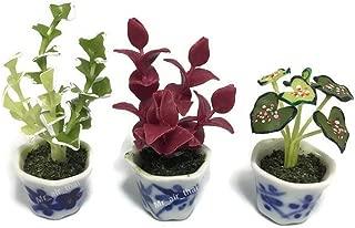 3pc Miniature Flower Clay Dollhouse Fairy Garden Mini Plant Trees Ceramic Paint Furniture Bundles Artificial Flowers Tiny Orchid #089