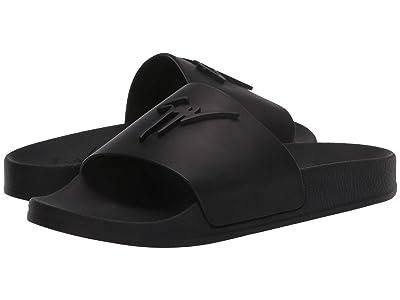 Giuseppe Zanotti Brett Leather Slide Sandal (Birel/Vague Nero) Women