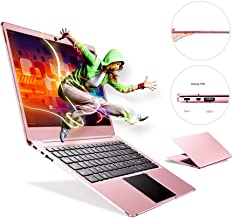 Fenniu Ultra Thin 14 inch laptop Computer intel Apollo Lake Celeron N3450 4GB Ram 64GB eMMC Supports M.2 SSD Upgrade(Up to 512 GB), USB 3.0, Bluetooth, Type C, Webcam, Windows 10 PC, Rose Gold