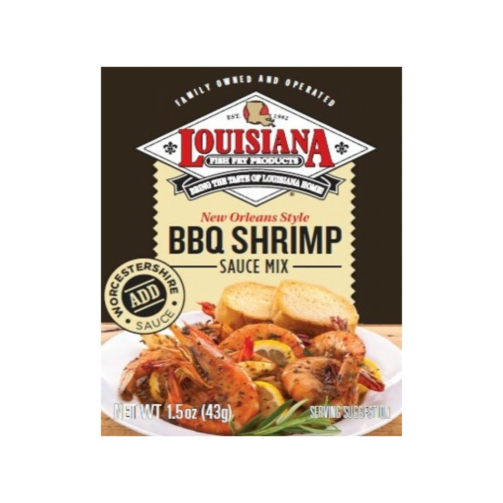 In stock Overseas parallel import regular item Louisiana Fish Fry BBQ Shrimp Sauce Pack 12 Mix 1.5-Ounce of